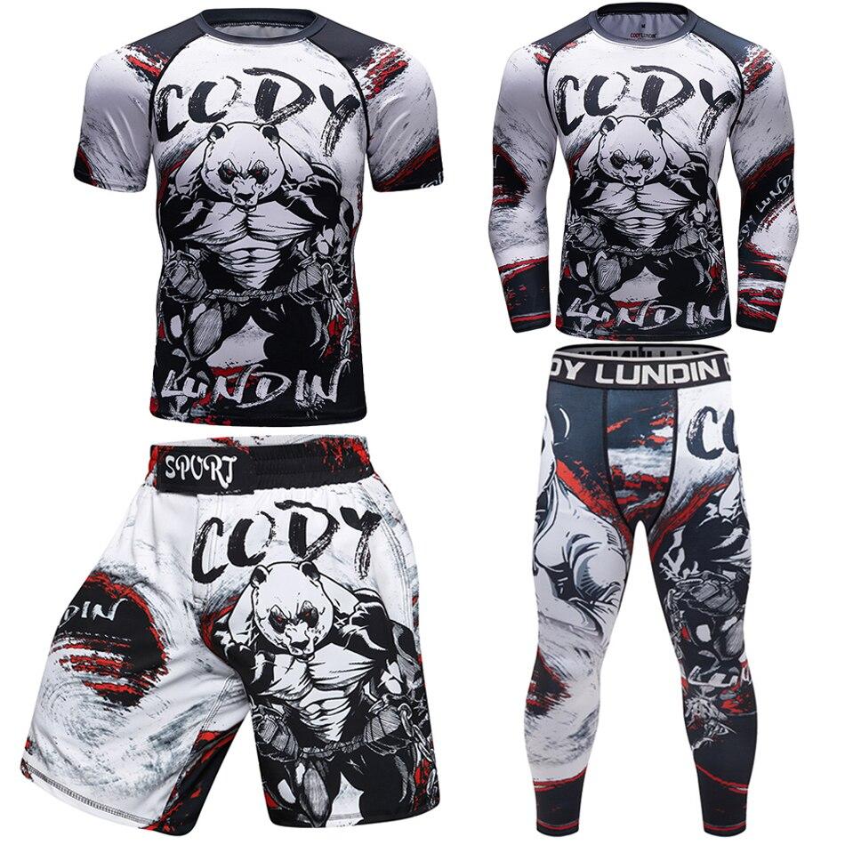 T-Shirts Pants Kickboxing-Sets Boxeo-Jerseys Rashguard Mma Muay-Thai Jitsu Sport-Jiu