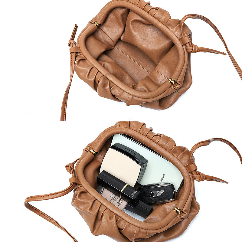 2019 bags women leather handbags New pattern  The single shoulder bag  Calf hide  Flaky clouds  package  High-capacity Genuine l