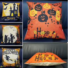 New Arrival Hallowmas Pillow Cover 18x18 Inch Cushion Bedroom Home Office Decorative Pillowcase Square Zipper Yellow Case