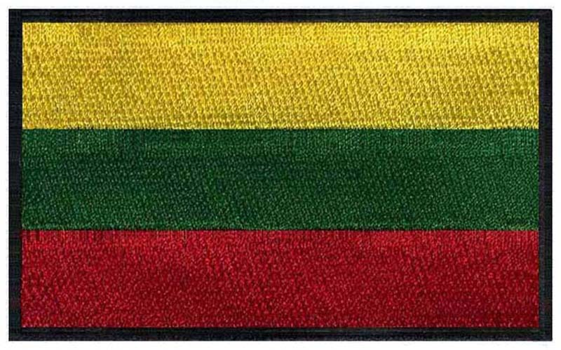 Lithuania embroidery flag patches logos 3 wide /all kids clothing and accessories/pedro del hierro/football helmet