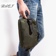 BAQI Brand Men Handbags Clutch Wallet Oxford Cloth Waterproof Camouflage 2018 Fashion Casual Bag Designer Ipad Phone
