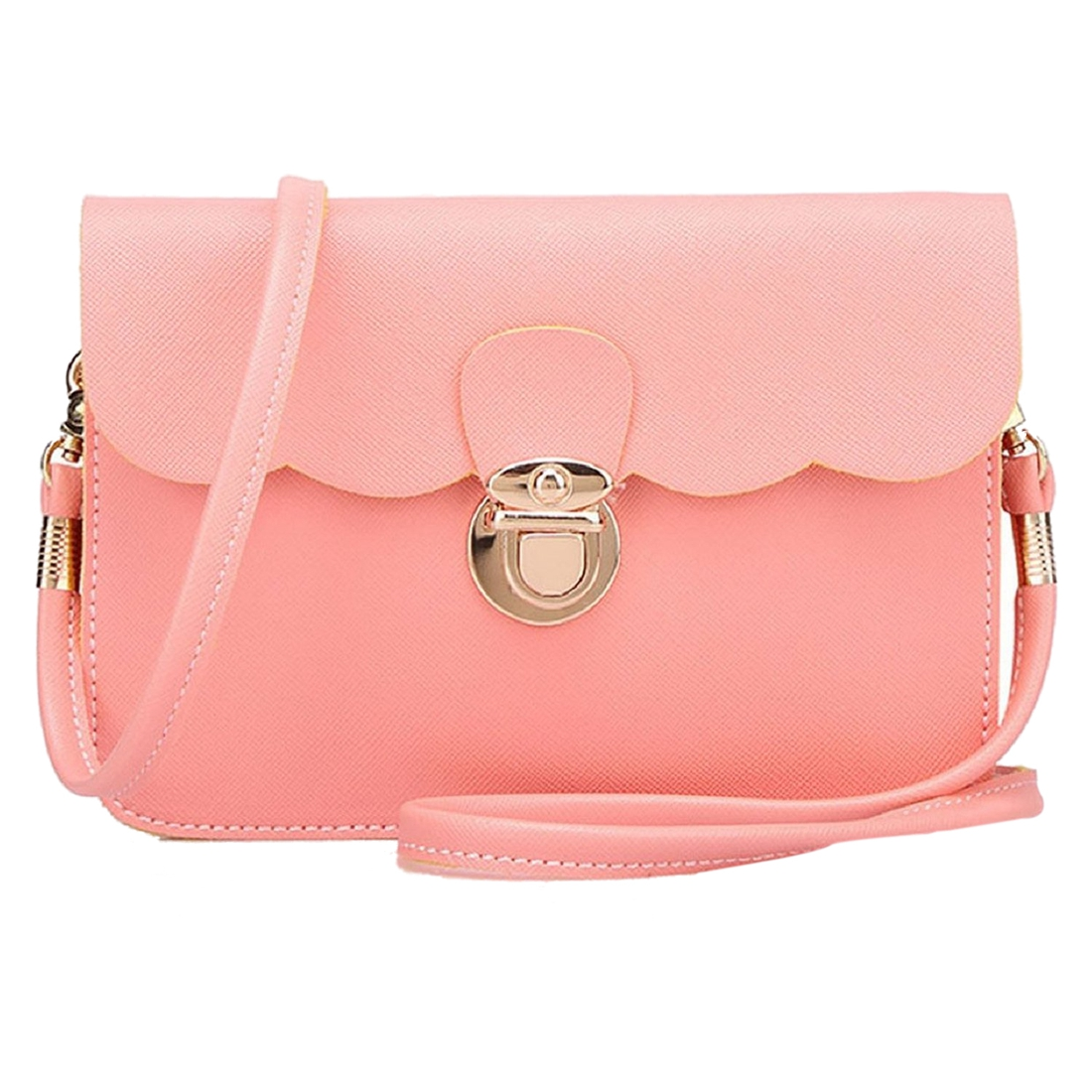 b6690408dc92 VSEN Hot Fashion Women s PU Leather Shoulder Bag Clutch Handbag Tote Purse  Hobo Messenger (Pink)-in Shoulder Bags from Luggage   Bags on  Aliexpress.com ...