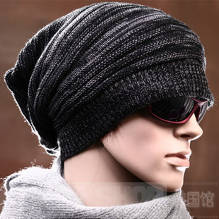 30dbaf86132 Free Shipping One-piece 2018 New Arrival Winter Hat Knitted Hat Male Single  Tier