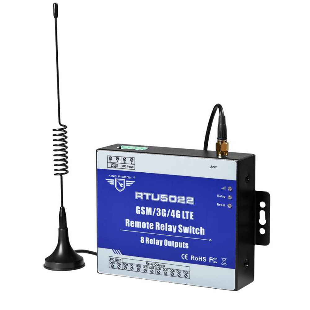 GSM Switch 3G 4G Remote Switches SMS Controller With 8 Relay Output Supports SMS APP Timer And Web Server Setting RTU5022