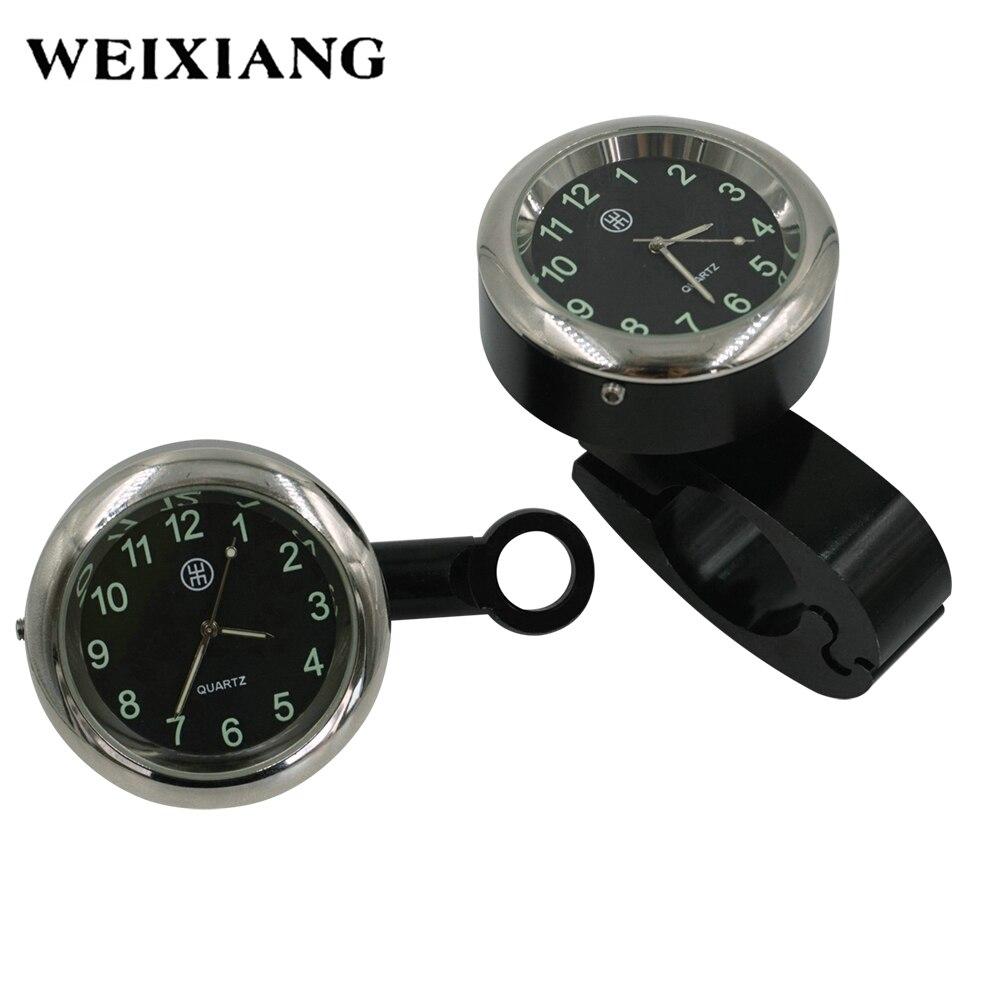 "Motorcycle Handlebar Dial Clock Noctilucent 7//8/"" /& 1/"" Handlebar Mount for Harley"