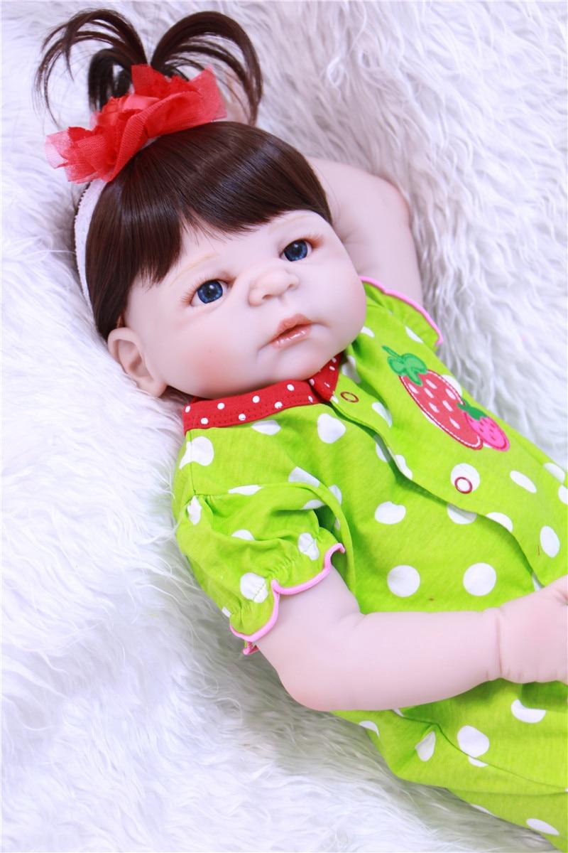 Милые девушки кукла реборн младенцев 22 55 см всего тела силиконовые куклы Reborn для детей подарок на день рождения Bebe реальные живые возрождается boneca - 2