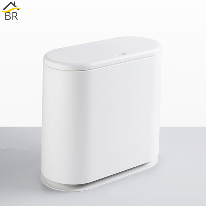 US $37.99 34% OFF|BR 15L Plastic Trash Can Pressing Type Bathroom Waste Bin  Toilet Dustbin Kitchen Trash Basket Garbage Bucket Hotel Waste Cans-in ...