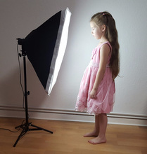 цена на free shipping tracking number Photography  SoftBox Lighting Kit 50x70cm Softbox  68cm lamps Stand Photo Studio Accessories Set