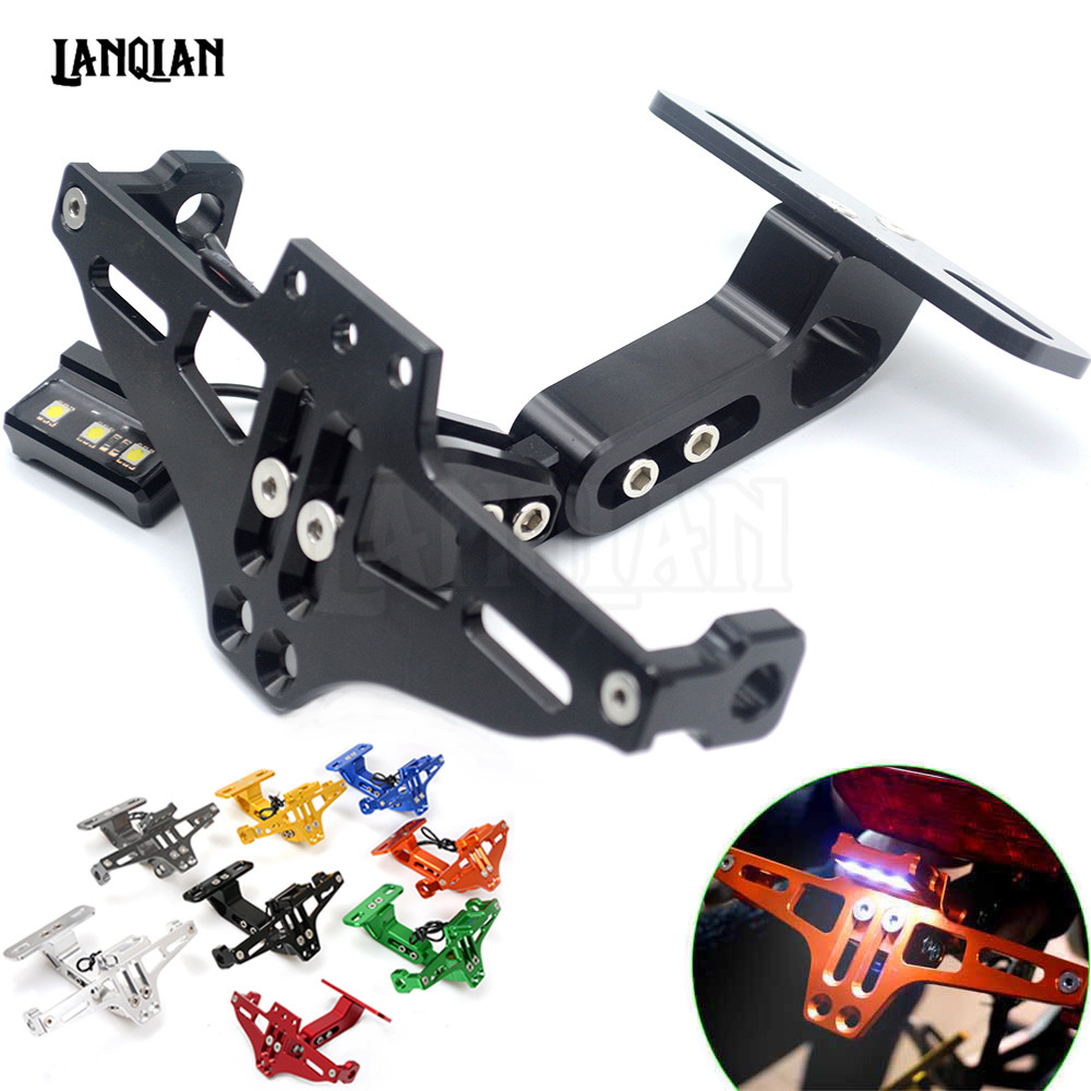 For YAMAHA MT07 FZ07 MT 07 MT09 MT 09 MT-09 YZF R1 R6 R3 Fender Eliminator Registration Plate Bracket License Plate Holder Light motorcycle brake fluid reservoir clutch tank oil fluid cup universal for yamaha r1 r3 r6 mt 07 mt 09 mt07 mt 07 tmax 530 ktm