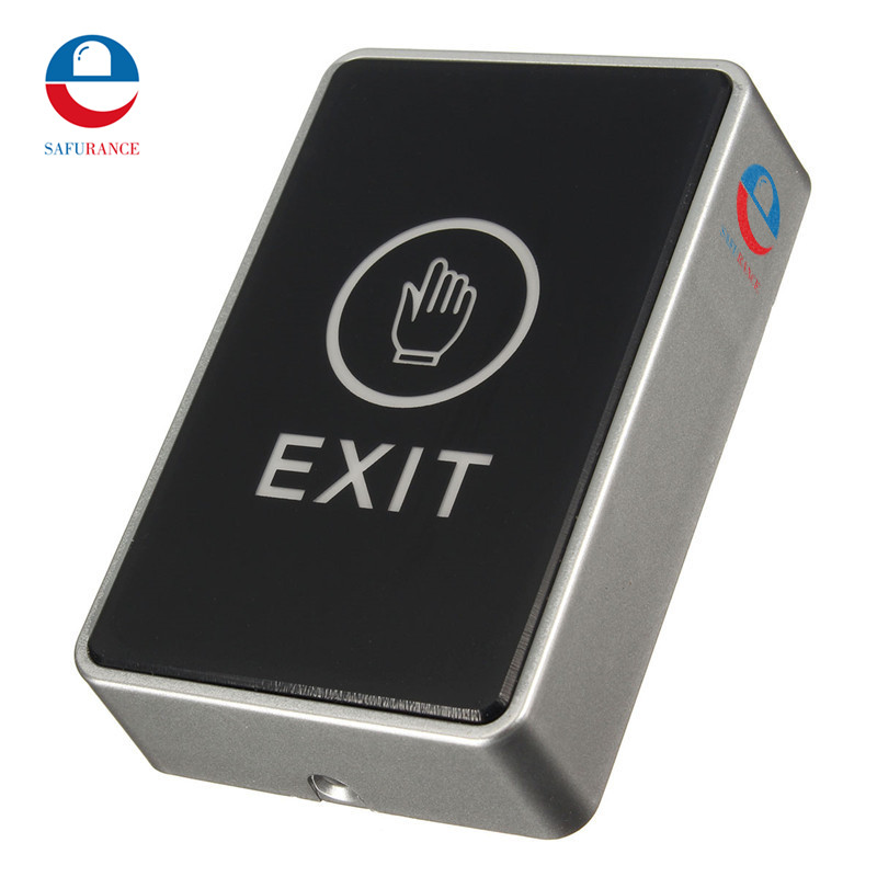 Safurance Push Touch Exit Button Door Eixt Release Button for access Control System suitable for Home Security  Protection alloy cover touch door exit for door access control system