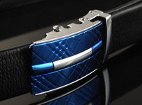 Leather High Grade Men Automatic Buckle For Man 120cm Long
