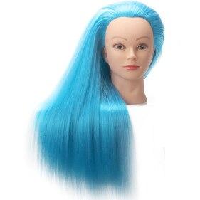 Ярко-голубой Учебные головы для продажи голубые волосы куклы-манекены парикмахерские Парикмахерские Манекен женщина глава