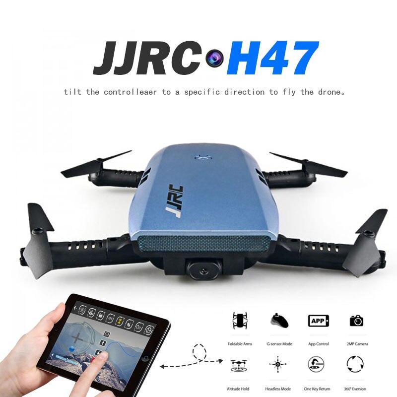 Più nuovo JJRC H47 ELFIE 720 P HD FPV Macchina Fotografica di Wifi Rc Quadcoper pieghevole Braccio di Controllo di Rilevamento di Gravità Selfie Drone VS Eachine E56 Dron