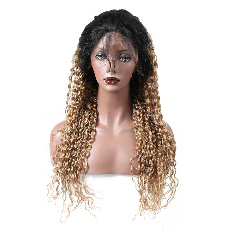 Ombre Wig Lace Front Human Hair Wigs Pre Plucked Hair Pre Color 1B/27# Lace Wig Brazilia ...