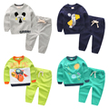2017 spring autumn baby clothes long sleeve and pants two pieces suit underwear warm cute cartoons set05