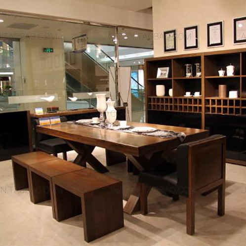 American Vintage Iron Table Desk Wood Tables And Chairs Bar Hotel Dining Dinette Combination