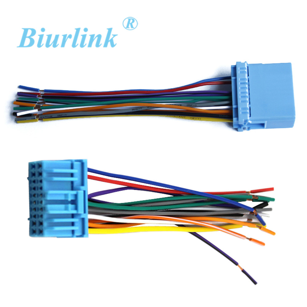 Biurlink Car Radio Wire Harness Cable Adapter For Honda Fit Buick Excelle Suzuki(China)