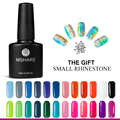 MSHARE 128 Colors UV Gel Nail Polish Art Decoration 10ML Long Lasting Varnish Manicure Health Nail Lacquer + Free Rhinestone