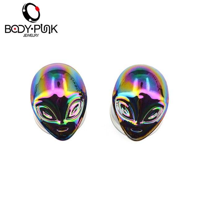 Купить оросительное стекло для тела в стиле панк с изображением инопланетянина