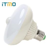 ITimo Creative E27 UFO Forme Smart LED Lampe Nuit Lumière AC 85-265 V Auto Détecteur 12 W PIR Capteur de Mouvement Infrarouge LED Ampoule Lumière