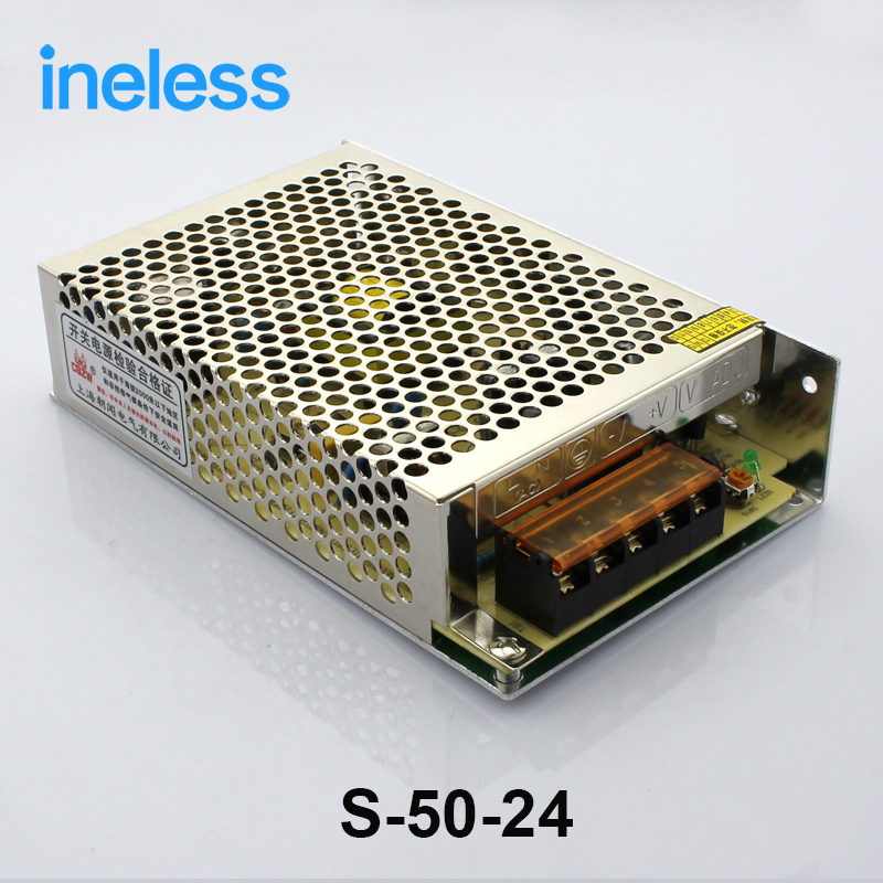 S-50-24 power suply 50w 24V 2.1A power supply unit ac to dc power supply ac dc converter ...