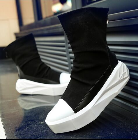 Мужские ботинки на платформе, увеличивающие рост, на молнии сзади, кожаные ботинки разных цветов, черные, белые, новинка 2019