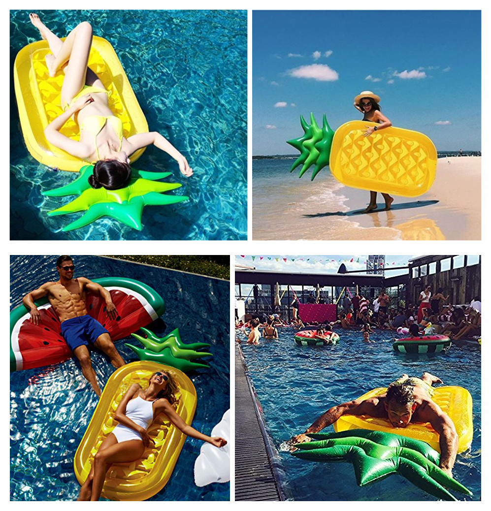 Pool Floats Pineapple Giant Fruit Inflatable Pool Toy Float Kickboard 73 Inch 1.8M Pool Water holder Holiday Water Fun Pool Toy
