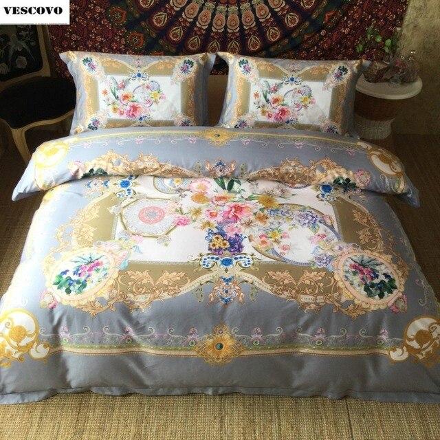 Luxus Marke 100 ägypten Baumwolle Bettwäsche Set Böhmen Bestickt