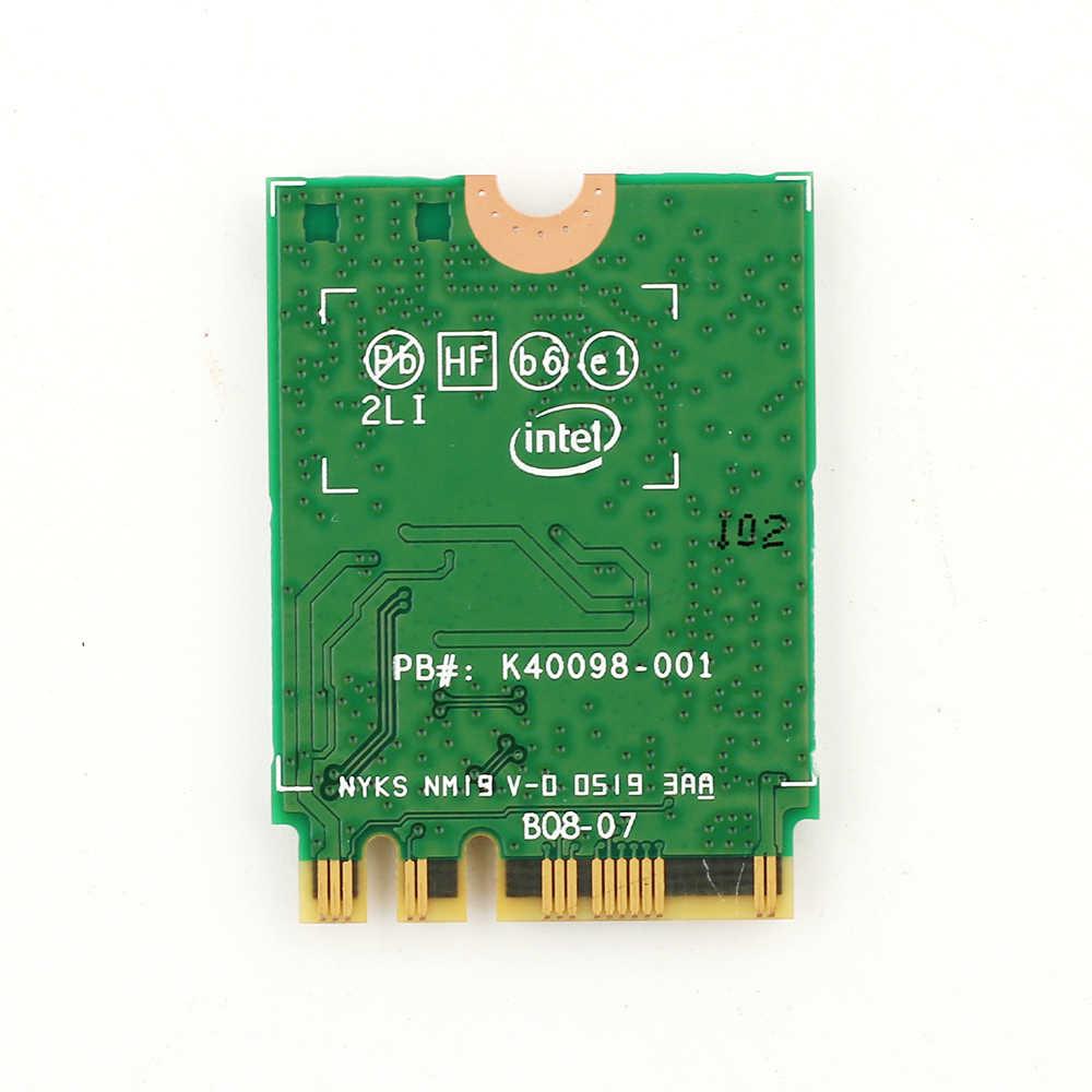 ثنائي النطاق 2.4Gbps إنتل واي فاي 6 AX200NGW 802.11ax/التيار المتناوب MU-MIMO 2x2 واي فاي AX200 NGFF M.2 بلوتوث 5.0 شبكة Wlan بطاقة + هوائي