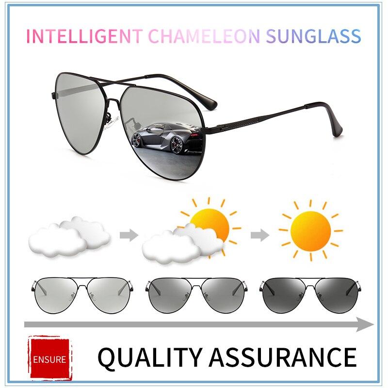 MX Photochromic Sunglasses Men HD Polarized Sunglass Women Chameleon Sun glasses Male Pilot Classic Driving Glasses Goggles