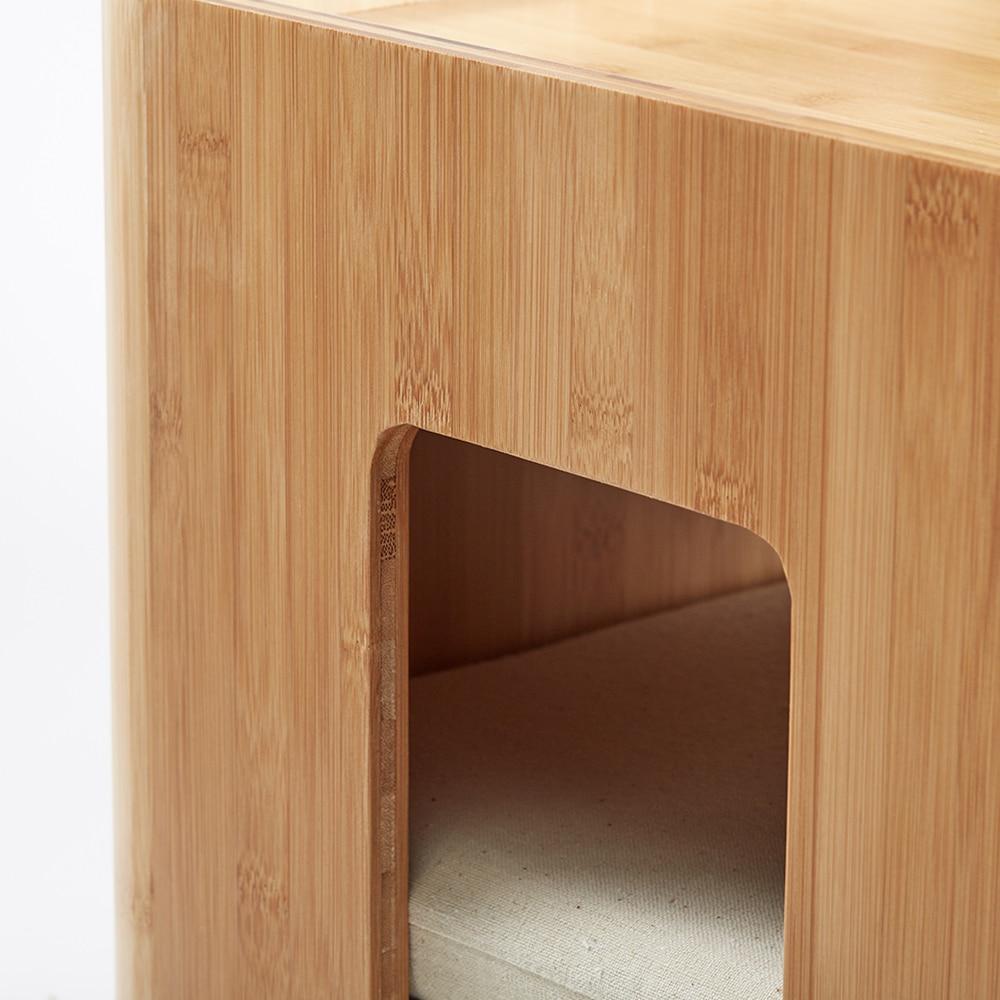 Bambuspall Muti Funktion Tebord med 4 kudde soffbord Tatami - Möbel - Foto 6