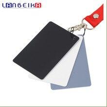 17.5×12 см Новый Большой 3 in1 Цифровой Grey Card с Белый Черный Серый цвет Баланс Белого с Ремешком Для 350d 450d 650d d90 d3100 d5100