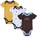 3 PCS/LOT Baby Boy Clothes Newborn Baby Romper Set Short Sleeved Cotton Baby Romper Toddler Underwear Infant Clothing