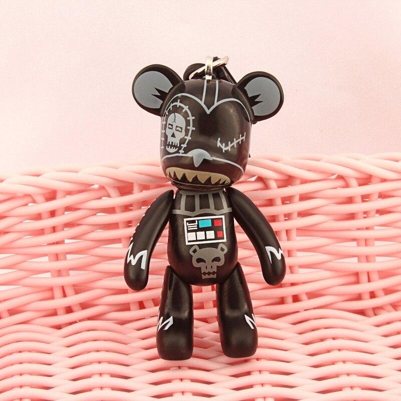 Bomgom Cartoon Popobe Gloomy Bear Momo Vinyl Plastic Keychain Key Chain Bag Ornaments Pendant Kids Toys Doll Keyring K049-y