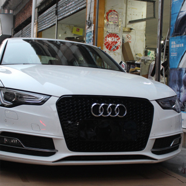 For Audi A5 Modified Rs5 Style Front Hood Center Grille Grill Car