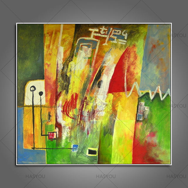Top aritist no framed 100% Handmade Abstract Modern Oil Painting ...