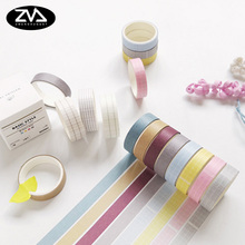 4pcs/box Solid color paper tape DIY decorative scrapbook masking tape washi tape stationery office adhesive tape school supplies 8 colors self adhesive acrylic tape rhinestones scrapbook craft tape bling decoration school office supplies stationery gift