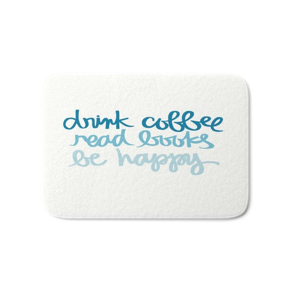 Напиток Кофе, читать Книги, быть счастливым Для ванной Коврики противоскользящие Кухня Ванная комната Коврики поглощения двери Коврики тов... ...