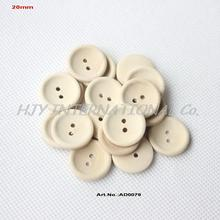 (200 pces) botões de costura de madeira redondos de 20mm botão personalizado com seu texto ou nome da loja cor natural 0.8in ad0079