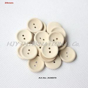 Image 1 - (200pcs)20mm Round Wooden Sewing Buttons Personalized Button With Your Text Or Shop Name Natural color 0.8in AD0079
