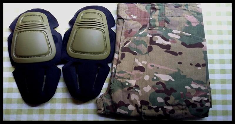 uniforme calças airsoft paintball combate carga calças com joelheiras
