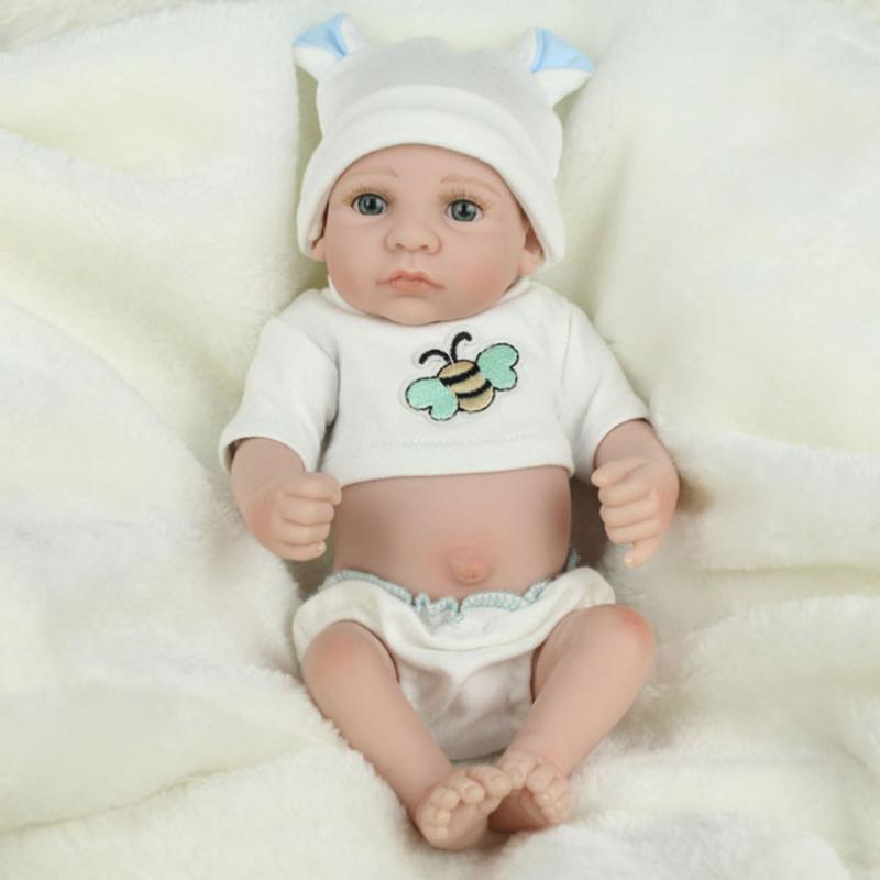 Lovely Silicone Reborn Baby Dolls Realistic Lifelike Reborn Baby Dolls Simulation Doll Toy Infant Gift brinquedos kawaii silicone reborn baby dolls accompany sleeping baby doll lifelike elegant princess baby gift brinquedos with clothes