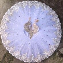 Tutú de ballet de bailarina profesional blanco para niños, niñas, mujeres, adultos, bailarina, trajes de fiesta, baile