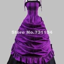 9dd58dd3c1 2019 kobiet szlachetny fioletowy Spaghetti pasek w stylu wiktoriańskim  suknie balowe kostiumy Southern Belle sukienka na imprezę.