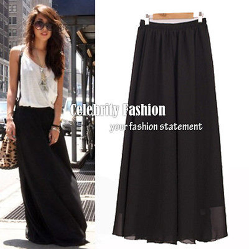 Long Flowy Black Skirt