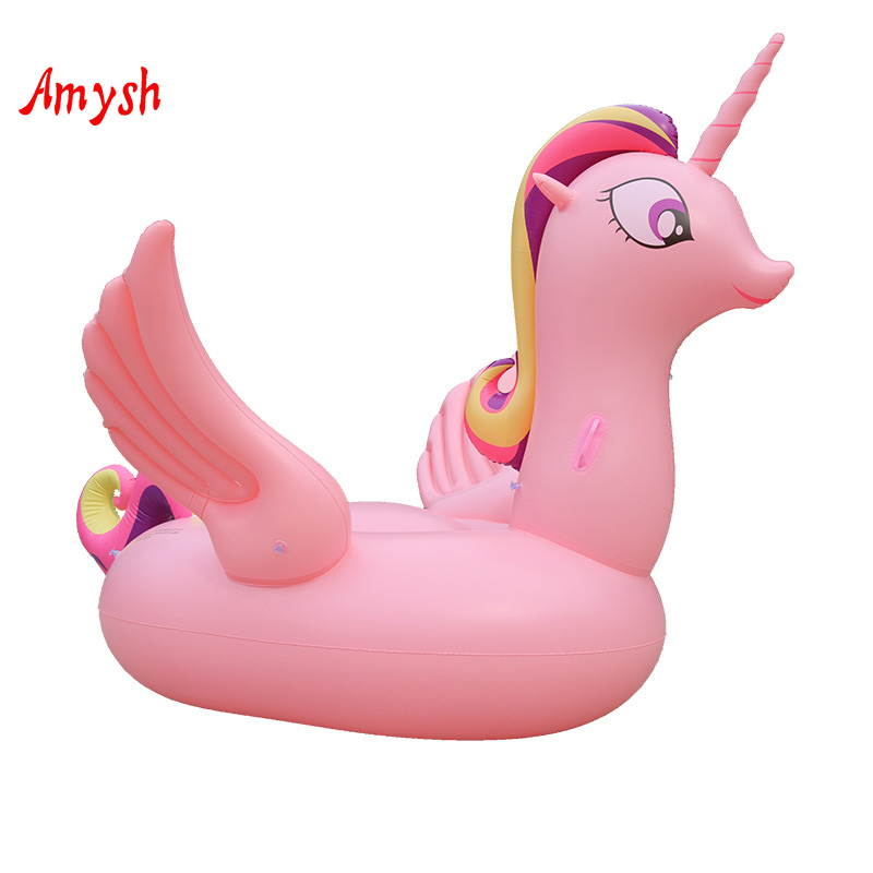 Summer Pink Unicorn Inflatable Giant Adult Raft Air Mattresses Life Buoy Swimming Water Sports Beach swim laps Swim Pool rafts цены онлайн