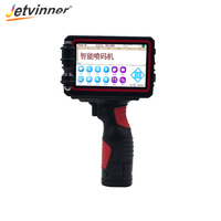 Jetvinner Handheld Printers Portable Inkjet Printer for QR Code/ Bar Code/ Date/ Number/ Letter for Plastic/ Metal/ Food Packing