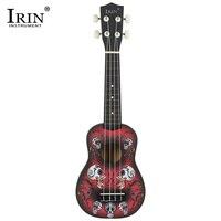 IRIN 21 дюймов 15 ладов сопрано Гавайские гитары укулеле 4 нейлоновые струны Акустическая гитара липа Дельфин Универсальный чехол сумка инстру...