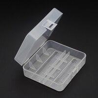 1 pc transparente suporte de caixa de plástico duro para 26650 bateria recarregável caixa de armazenamento de bateria clara|  -
