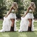 Plus Size Wedding Dresses Long Train Vestido De Noiva Hi Low Wedding Dress Bead Robe De Mariage Off Shoulder Bridal Gowns Pleats